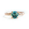 Evergreen 4-Prong Solitaire with Embedded Diamonds, Stackable - Setting