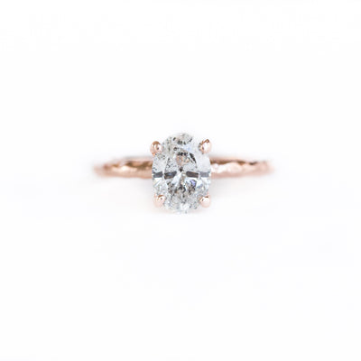 Custom Order- 18k Rose Gold Evergreen Carved Solitaire Setting for Cushion Cut Diamond. Reserved for R.