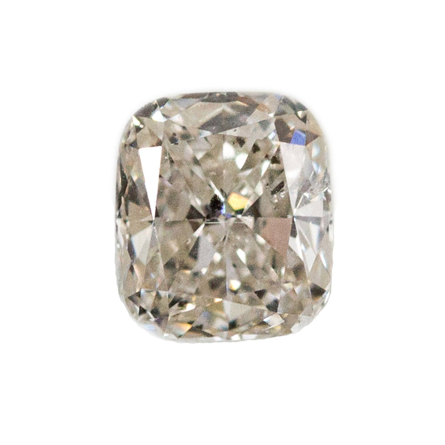 Custom Order-  1CT Cushion Cut Salt and Pepper Diamond in Classic Cathedral Double Prong Solitaire Ring- Reserved for S.