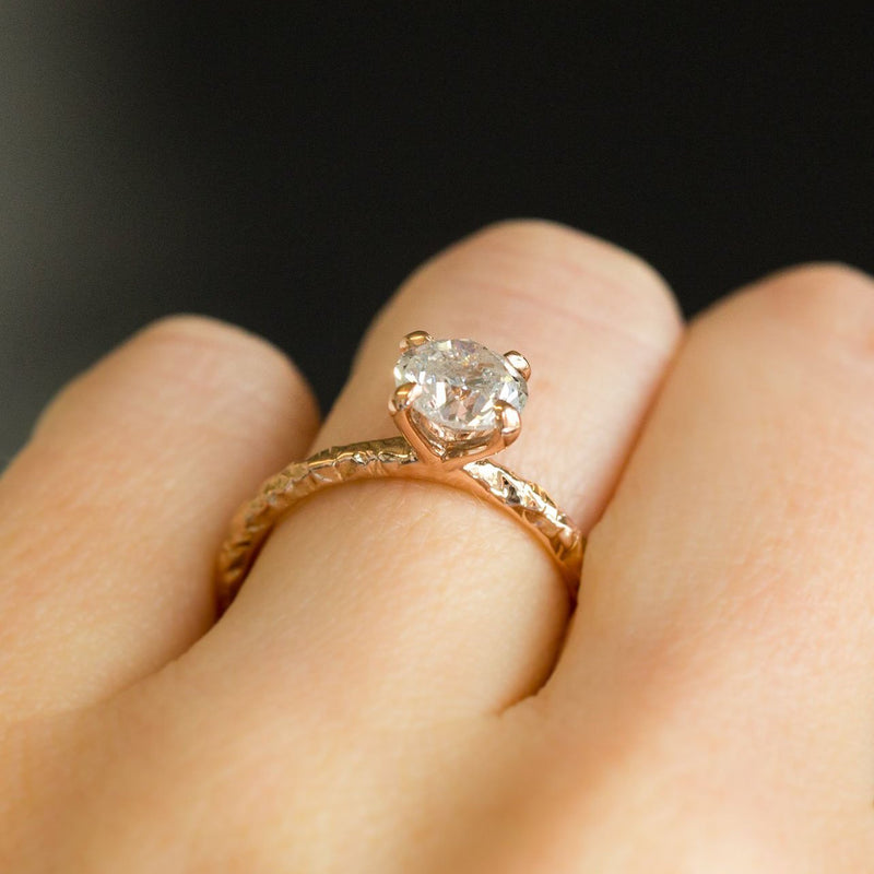 Custom Order- 1.56ct Round Diamond Solitaire in 14k White Gold Evergreen Setting. Reserved for R.