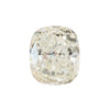 Three Stone Ring featuring 1.06 reclaimed cushion diamond in East-West setting