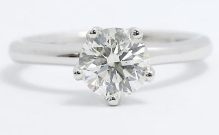 Custom Order-  5 Prong Solitaire Ring Setting - Reserved for J.M