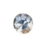 0.84CT ROVAL SPINEL BLUE GRAY GOLDEN, UNTREATED, MODERN BRILLIANT CUT, 5.89X5.57MM