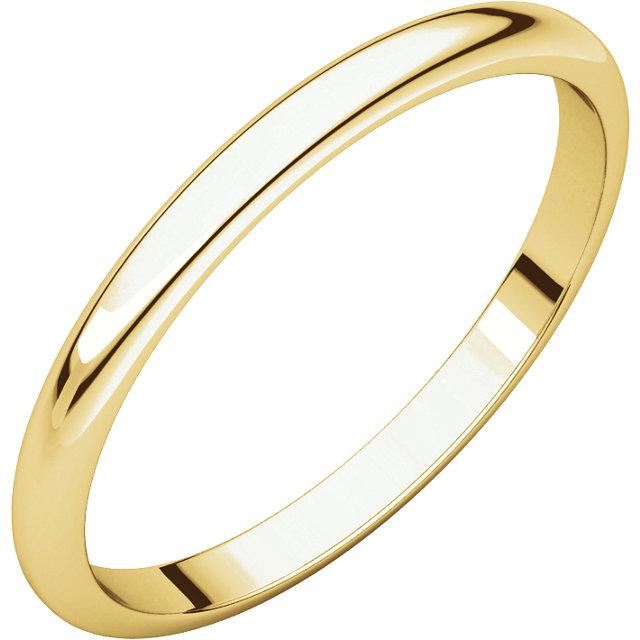 Half Round Wedding Band - Plain Rounded Women's Wedding Band