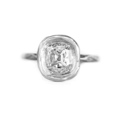 Evergreen Chunky Bezel Solitaire, Stackable - Setting