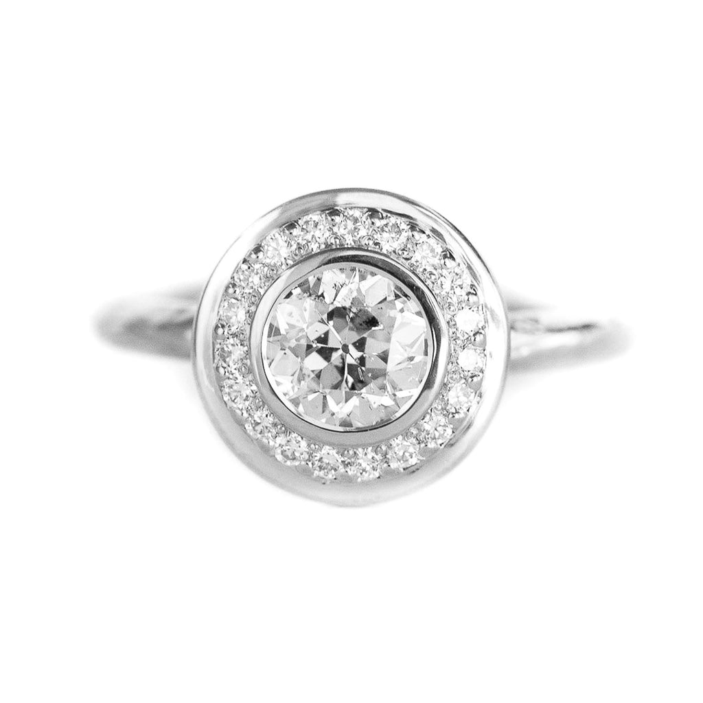 Evergreen Bezel Set Halo, Stackable - Setting