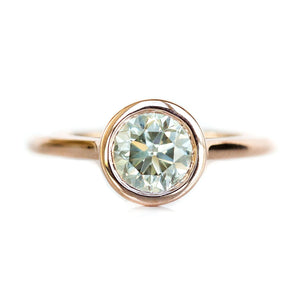 Custom Order-  Contemporary Bezel Ring Setting with Embedded Diamonds - Reserved for M.W