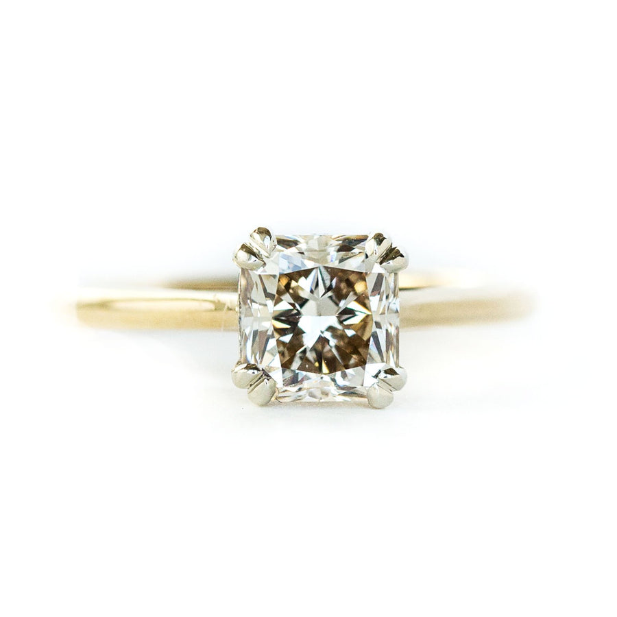 Classic Cathedral Double Prong Solitaire, Stackable - Setting