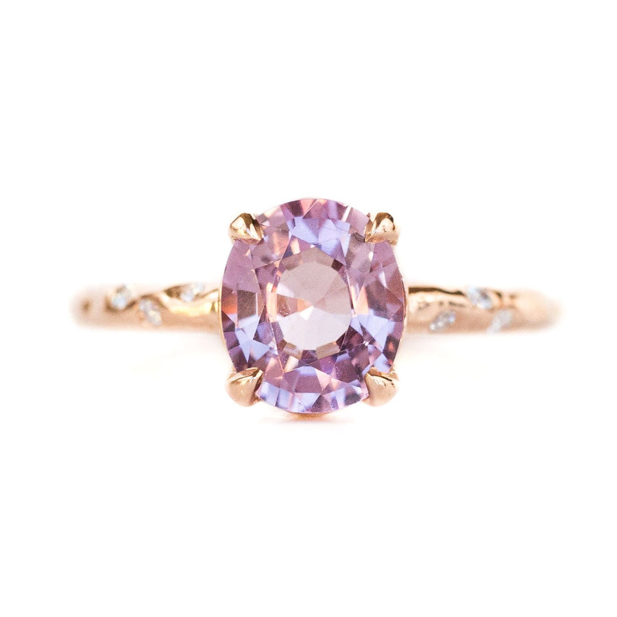 Low Profile 4-Prong with Embedded Diamonds - Setting