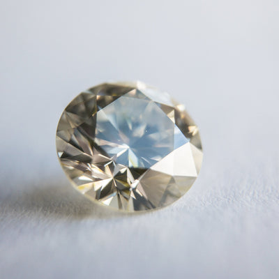 2.13ct Champagne 8.23x5.10 mm Round Shape Brilliant Cut DDL2052- Dream Diam Exclusive