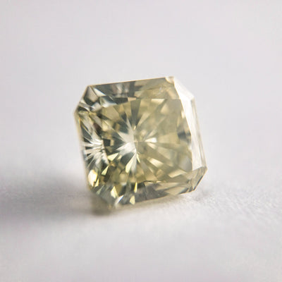 2.10ct 7.25x6.69x4.76mm SI1 Greyish Yellow Radiant Cut F-071- Dream Diam Exclusive