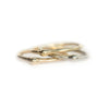 Gold Dewdrop Stacking Rings - Hand Carved Dainty Stacking Rings in Recycled Gold by Anueva Jewelry