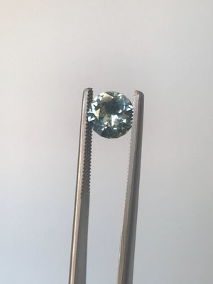 Payment 2/2 Custom Order-  3.3ct Nigerian Minty Sapphire, 8.6mm - Reserved for D.G