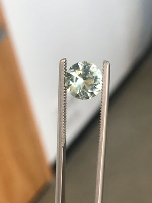 Payment 1/2 Custom Order-  3.3ct Nigerian Minty Sapphire, 8.6mm - Reserved for D.G