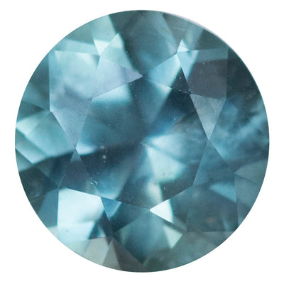 1.75CT ROUND MONTANA SAPPHIRE, MEDIUM LIGHT TEAL, 6.97MM