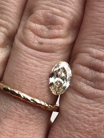 Custom Order- Yellow Gold Oval Diamond Engagement Ring