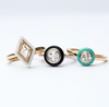 Anueva Jewelry Gemstone Halo Rings