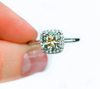 Custom Order- 1.72ct Old Mine Cushion Halo Diamond Ring in Platinum - Reserved for S.