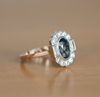 Custom Order- Custom Halo Setting for 1.68ct Oval Blue Sapphire Reserved for C.