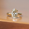 Custom Order- 1.49ct Champagne Oval Solitaire in Organic Yellow Gold. Reserved for S.P.