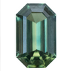 1.62CT EMERALD CUT NIGERIAN SAPPHIRE, GREEN, UNHEATED, 8.5X5.28MM