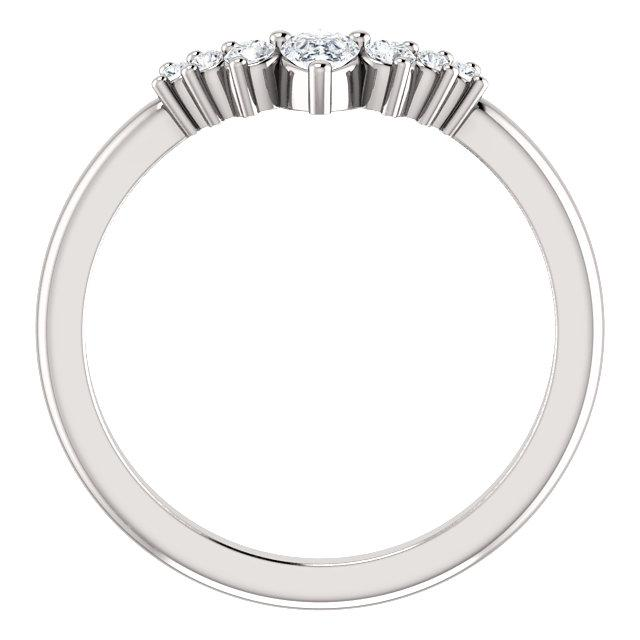 Tiara Curved Diamond Band