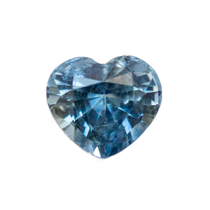 1.09CT HEART SHAPED MADAGASCAR SAPPHIRE, UNHEATED, MEDIUM BRIGHT BLUE WITH SOME INCLUSIONS 6.1 X 5.6 X 4.1MM