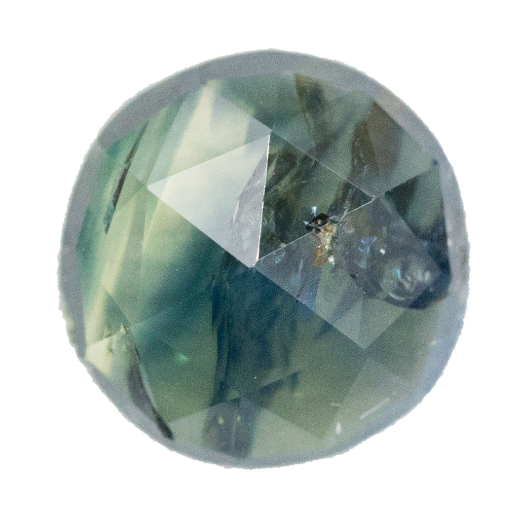 3.35CT ROUND ROSECUT, NIGERIA, RUSTIC MULTI COLOR WITH HIGH DOME AND SOME SURFACE INCLUSIONS, UNHEATED, 8.42X4.46MM