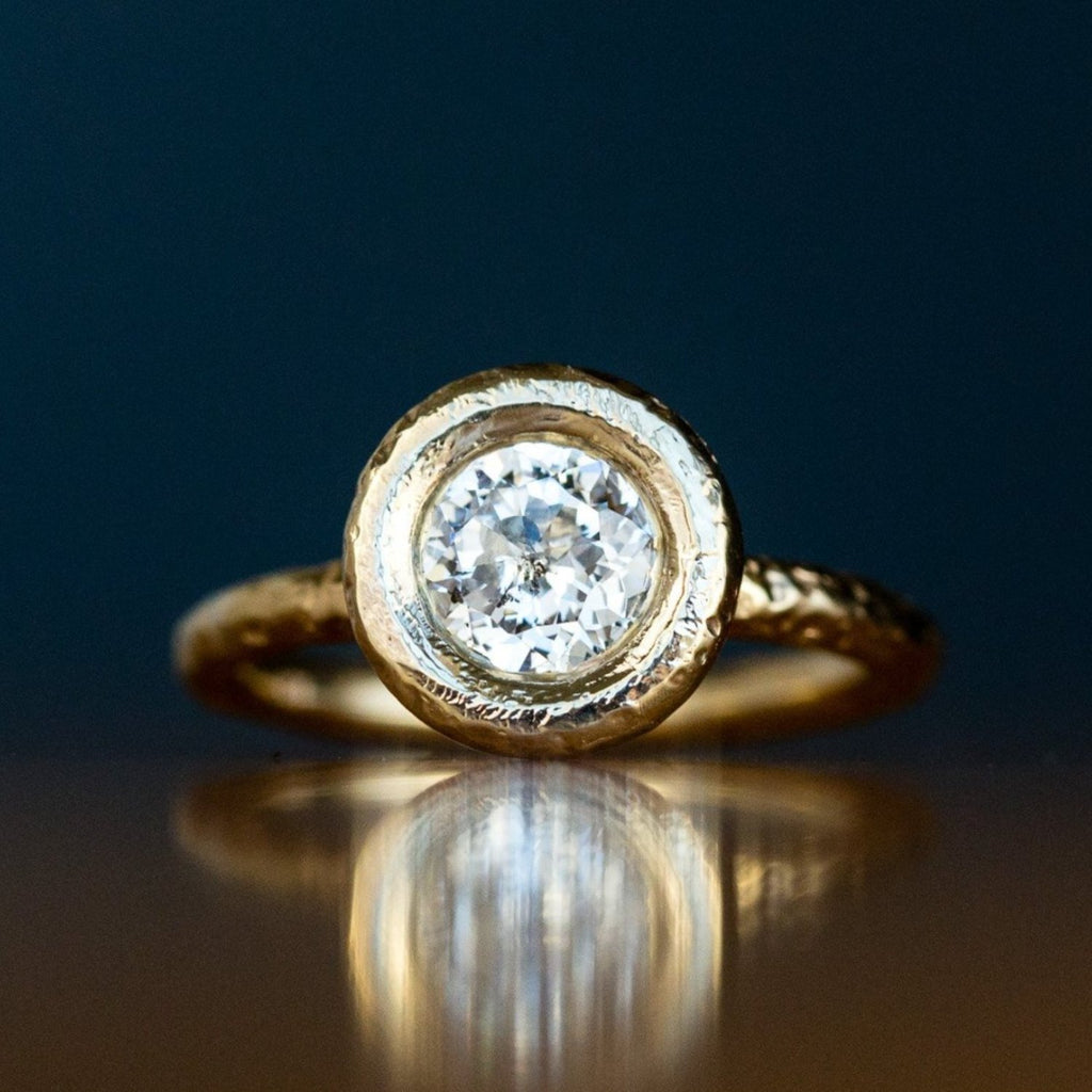1.03ct Crown Jubilee® Diamond Ring in Chunky Yellow Gold Bezel