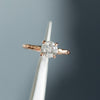1.40ct Round Grey Diamond in 14k Rose Evergreen Prong Setting