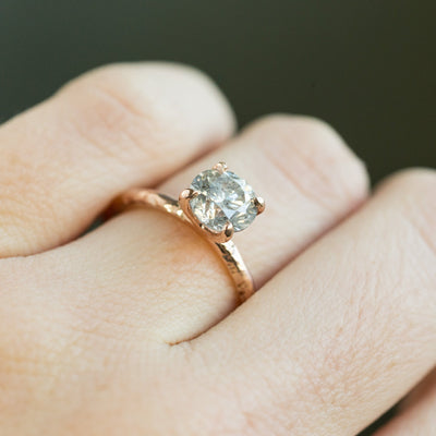 Custom Order-  4 Prong Solitaire Evergreen 14K Rose Gold Setting - Reserved for B. C.