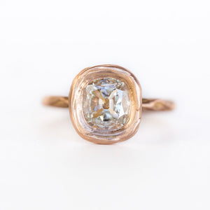 1.54ct Cushion Cut Bezel Rose Gold Ring Evergreen by Anueva Jewelry