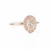 Deposit- 1.01ct Oval Champagne Diamond in Halo 18k Rose Gold Setting- Payment 1/2 - Reserved for Z.W