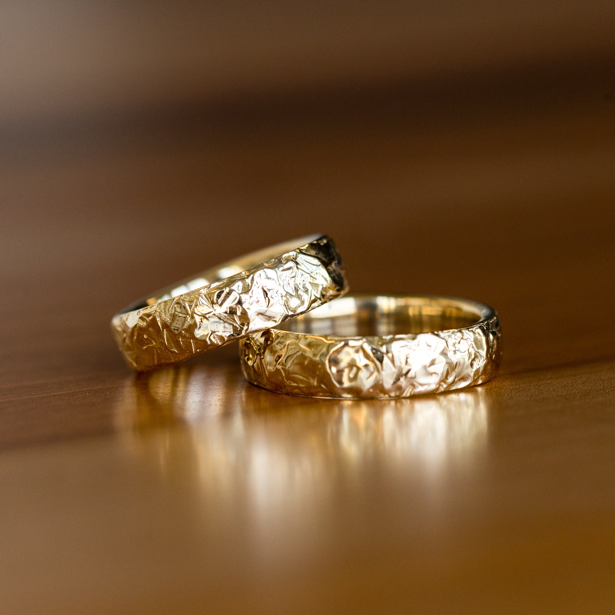 Eco Friendly Ring Titanium Wedding Ring with Reclaimed Gold Inlay Recycled Gold Ring for Men