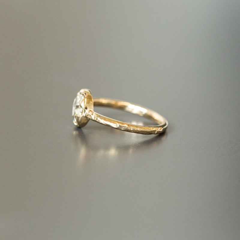 Custom Order-  0.61CT Rosecut Diamond in 6 Prong Low Profile Bezel - Reserved for R.L.