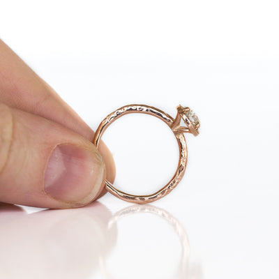 0.60ct Old European Cut Antique Diamond in Rose Gold Halo and Evergreen Band