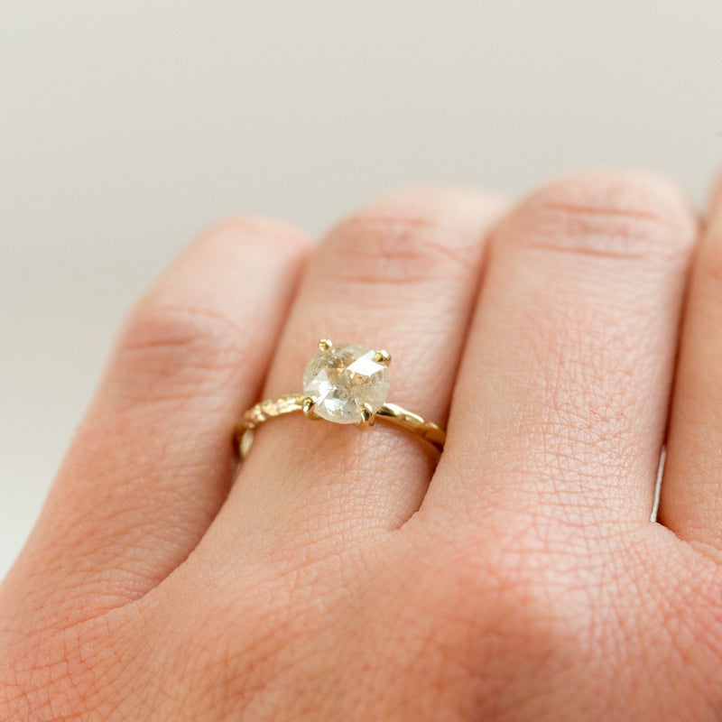 Custom Order-  0.76ct Rosecut Diamond in Dainty 4 Prong Setting - Reserved for P.M