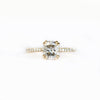 Custom Order-  1.08 Salt and Pepper Diamond Engagement ring and Wedding Band - Reserved for C. L.
