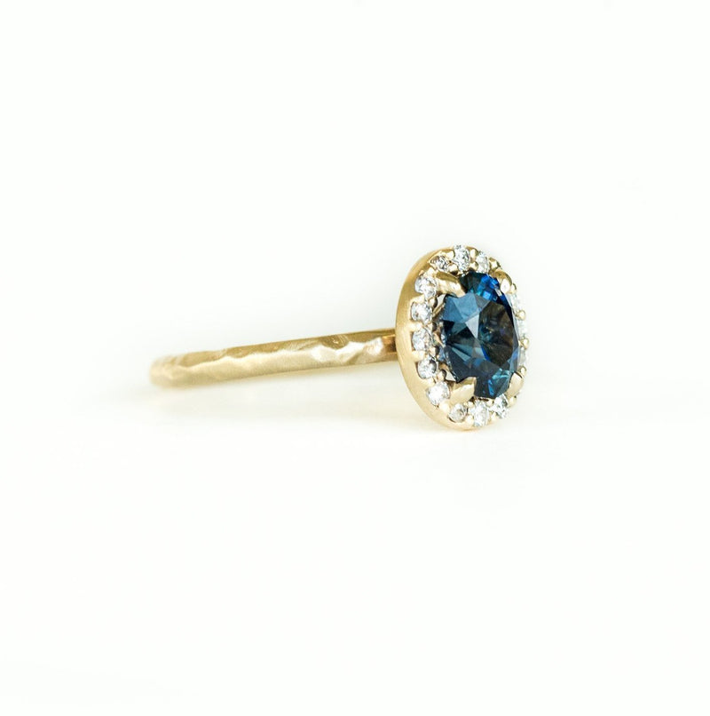 Custom Order-  1.91ct Sapphire Halo Ring Reserved for D.