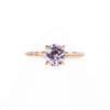 1.35ct Purple-Pink Spinel in 14k Rose Gold Evergreen Solitaire