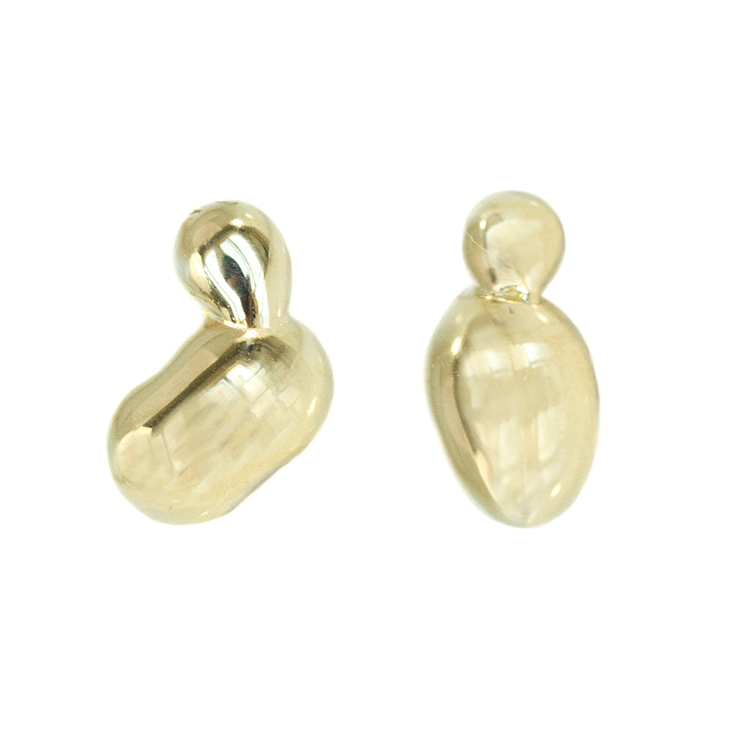 Alluvial Studs In Solid Recycled Gold