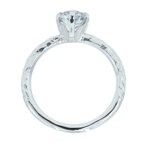 1.01ct Oval Diamond 6 Prong Evergreen Solitaire In Platinum