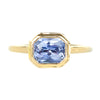 1.87ct Radiant Purple Sapphire in Double Framed Bezel In 14k Yellow Gold