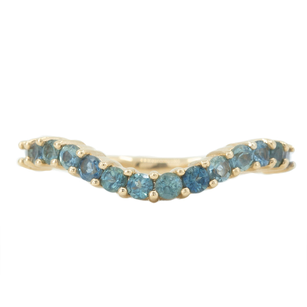 Gemstone Contour Band