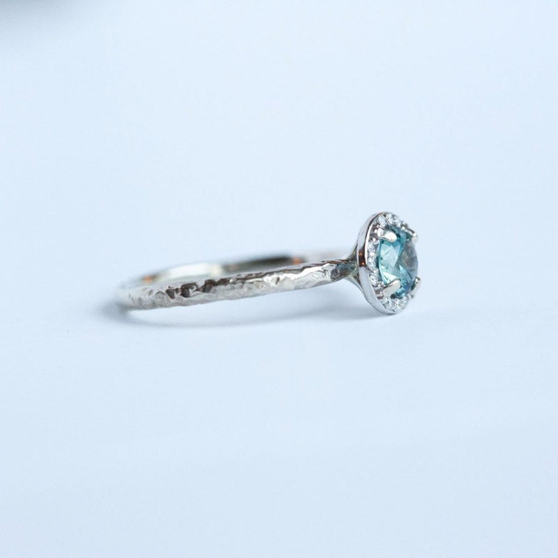 Custom Order-  1ct Pear Diamond and Platinum Halo Ring by Anueva Jewelry - Payment 2