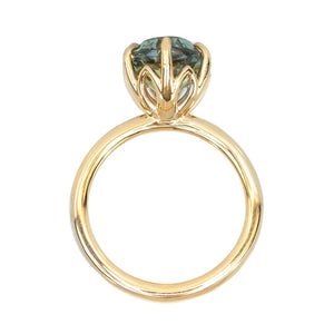 Lotus Six Prong Solitaire, Stackable -Setting