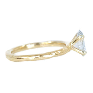 1.01ct Oval Salt And Pepper Diamond Evergreen Solitaire in 14k Yellow Gold