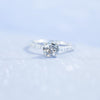 1.07ct Round Salt And Pepper Diamond with French Set Diamond Band In 14k White Gold