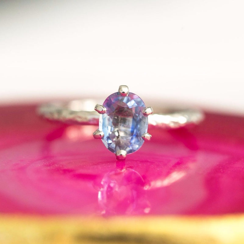 Custom Order- Payment 1 of 2 for Oval Periwinkle Sapphire Ring in Rose Gold. Reserved for M.