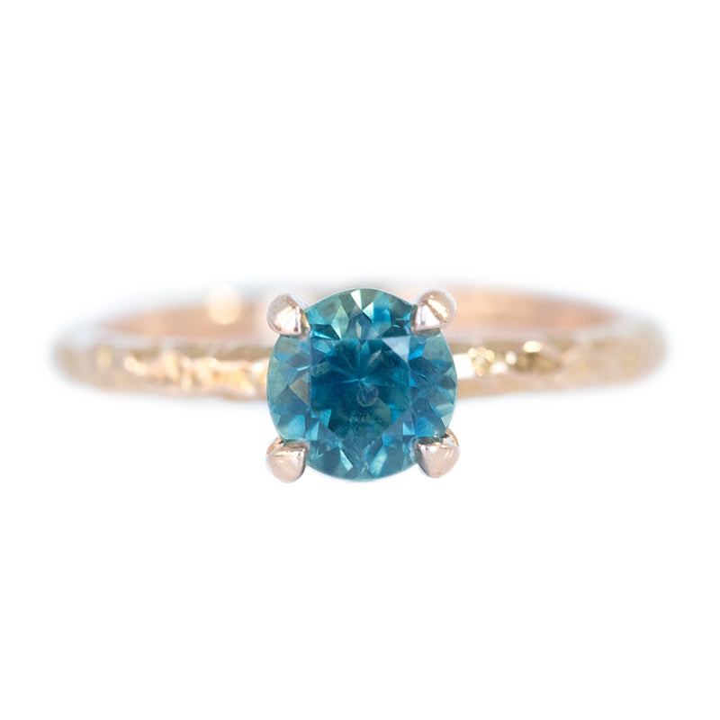 1.06ct Montana Sapphire Evergreen Solitaire in 18k Rose Gold